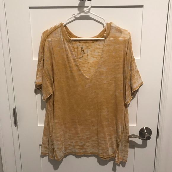 Free People Tops - Free People Jordan Tee gold small
